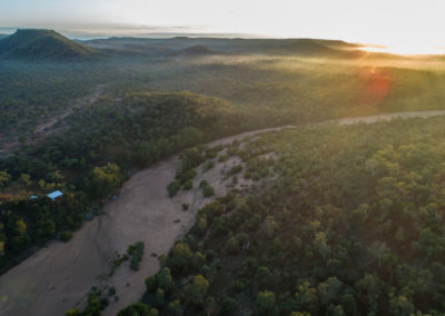 Gilberton Outback Retreat Aerial View