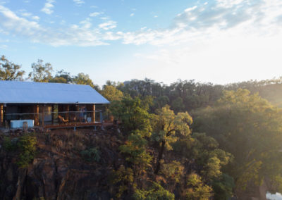 Aerial view of Gilberton Outback Retreat